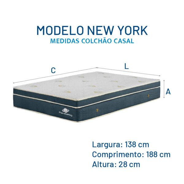 Modelo New York _ Medidas Colchão Casal