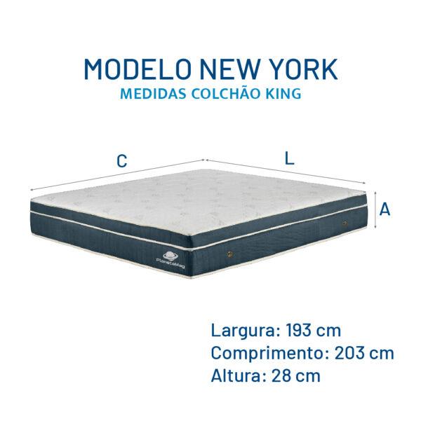 Modelo New York - Medidas Colchão King