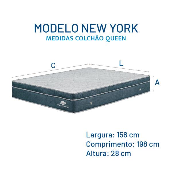 Modelo New York - Medidas Colchão Queen
