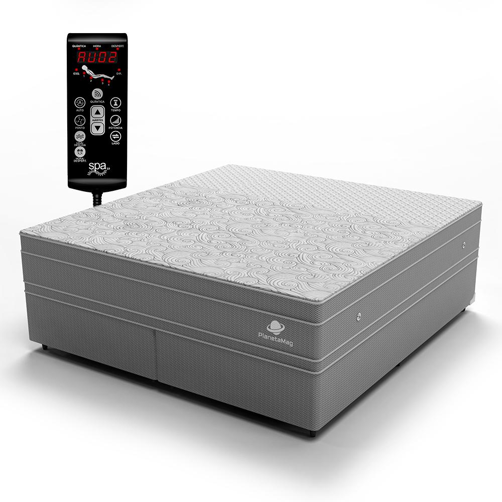 Colchão Magnético Queen com Base Box e Massageador Modelo London
