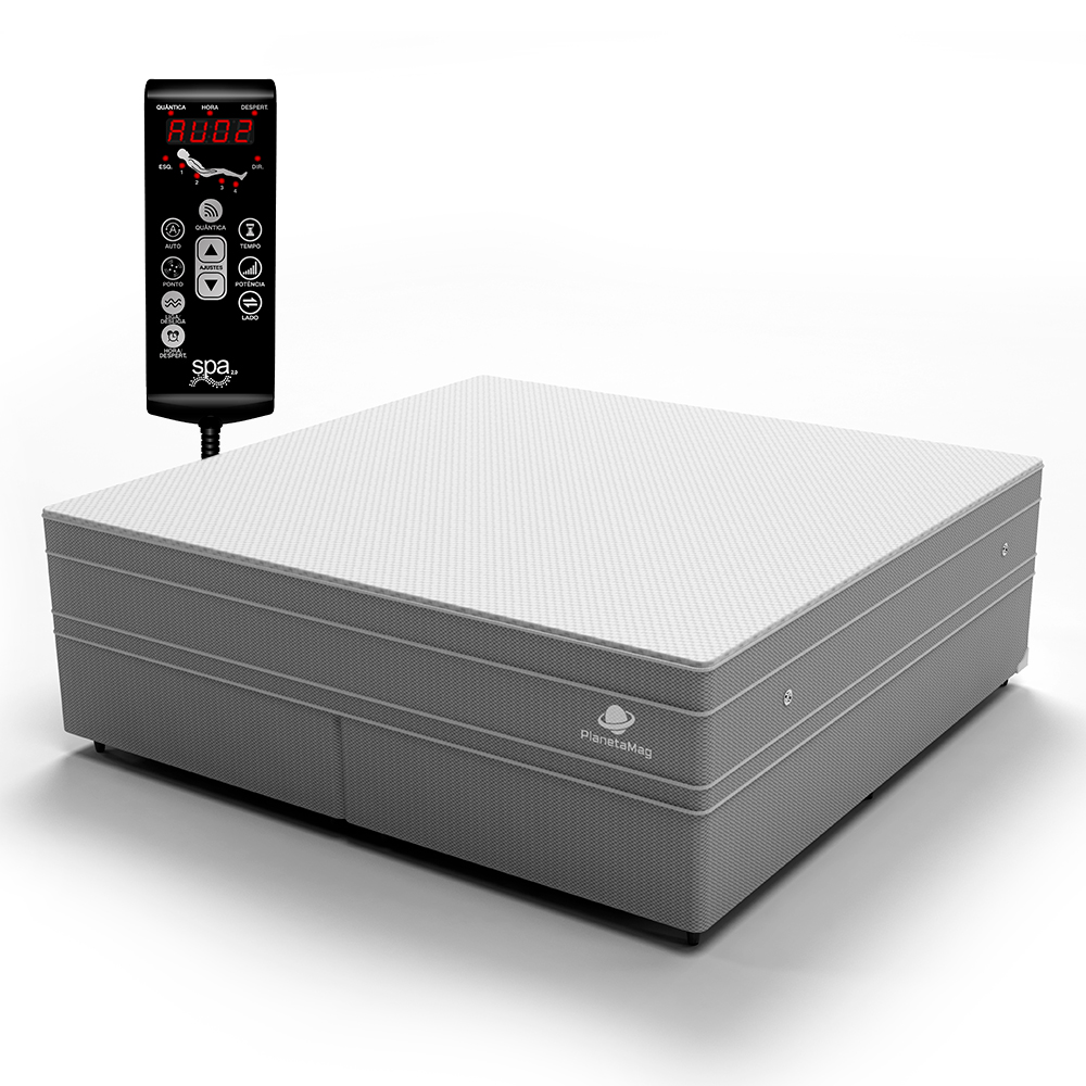 Colchão Magnético King com Base Box e Massageador Modelo Paris